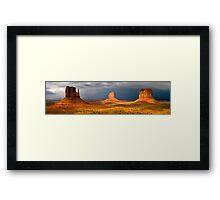 Light up the landscape Framed Print