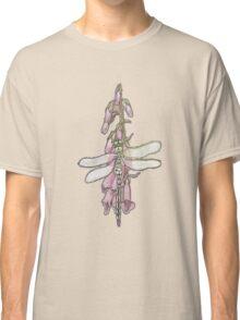 Dragonfly On Foxglove Classic T-Shirt