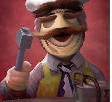 Muppet Maniacs - Swedish Chef as Leatherface by GrimbyBECK