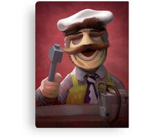 Muppet Maniacs - Swedish Chef as Leatherface Canvas Print