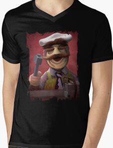 Muppet Maniacs - Swedish Chef as Leatherface Mens V-Neck T-Shirt