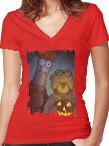 Muppet Maniacs - Beaker Myers & Dr. Honeyloomis Women's Fitted V-Neck T-Shirt