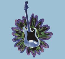 Guitar and Sunflower 1 by Jim LoPiano