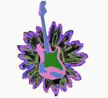 Guitar and Sunflower 3 Womens Fitted T-Shirt