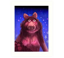 Muppet Maniacs - Ms. Piggy as Carrie Art Print