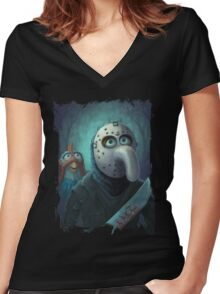 Muppet Maniacs - Gonzo Voorhees Women's Fitted V-Neck T-Shirt