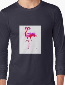Flamingo Heads  Long Sleeve T-Shirt