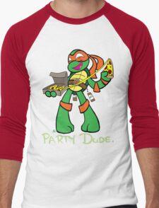 Teenage Mutant Ninja Turtles- Michaelangelo Men's Baseball ¾ T-Shirt