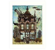 Octopus's House, Undersea Art Print