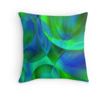 Bubbles Fractal Throw Pillow