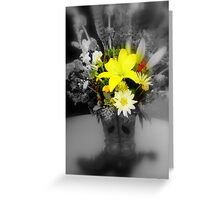 sunshine through the grey Greeting Card