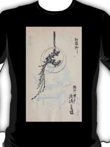 Yenshu ryu ikebana hiak bin no zu shiki konzatsu Flower arrangement in the Enshu style V1 1897 0021 T-Shirt