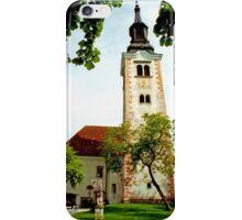 Church of the Assumption, Bled Island, Slovenia iPhone Case/Skin