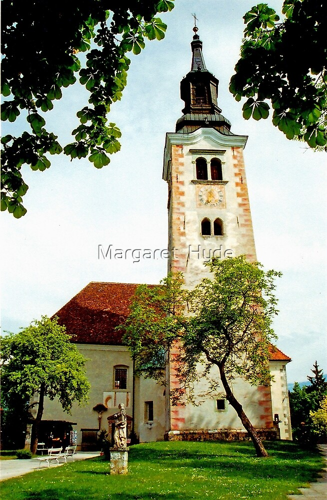 Church of the Assumption, Bled Island, Slovenia by Margaret  Hyde
