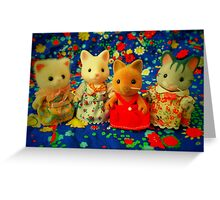 Sylvanian Families ~ Cat Friends Greeting Card