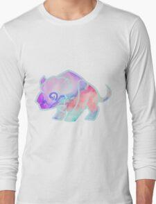 Watercolour Buffalo Long Sleeve T-Shirt