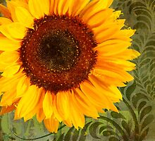 Summer Sun Verdant Afternoon Sunflower Garden by Glimmersmith