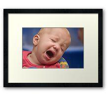 Life is tough. Framed Print