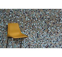 Yellow Chair, Blue Wall Photographic Print