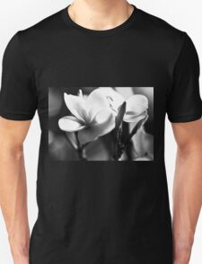 Frangipani In Black And White T-Shirt