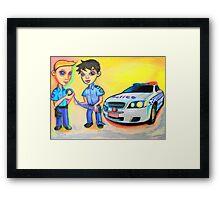 Crime Scene Framed Print