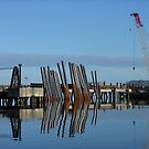 The Docks at Stornoway - Industrial Landscape by MidnightMelody