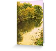 Bike Path Along The Canal Greeting Card