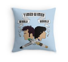 Timey Wimey Doctors Throw Pillow