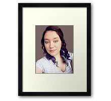 RECENT CAPTURE OF MY NIECE NICOLE WITH NEW HAIR STYLE COLOURS.. Framed Print