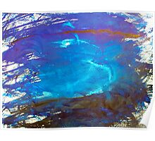 Blue Space Water Abstract Art Poster