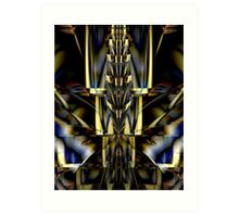 Spire Of Gold & Cobalt Blue Art Print
