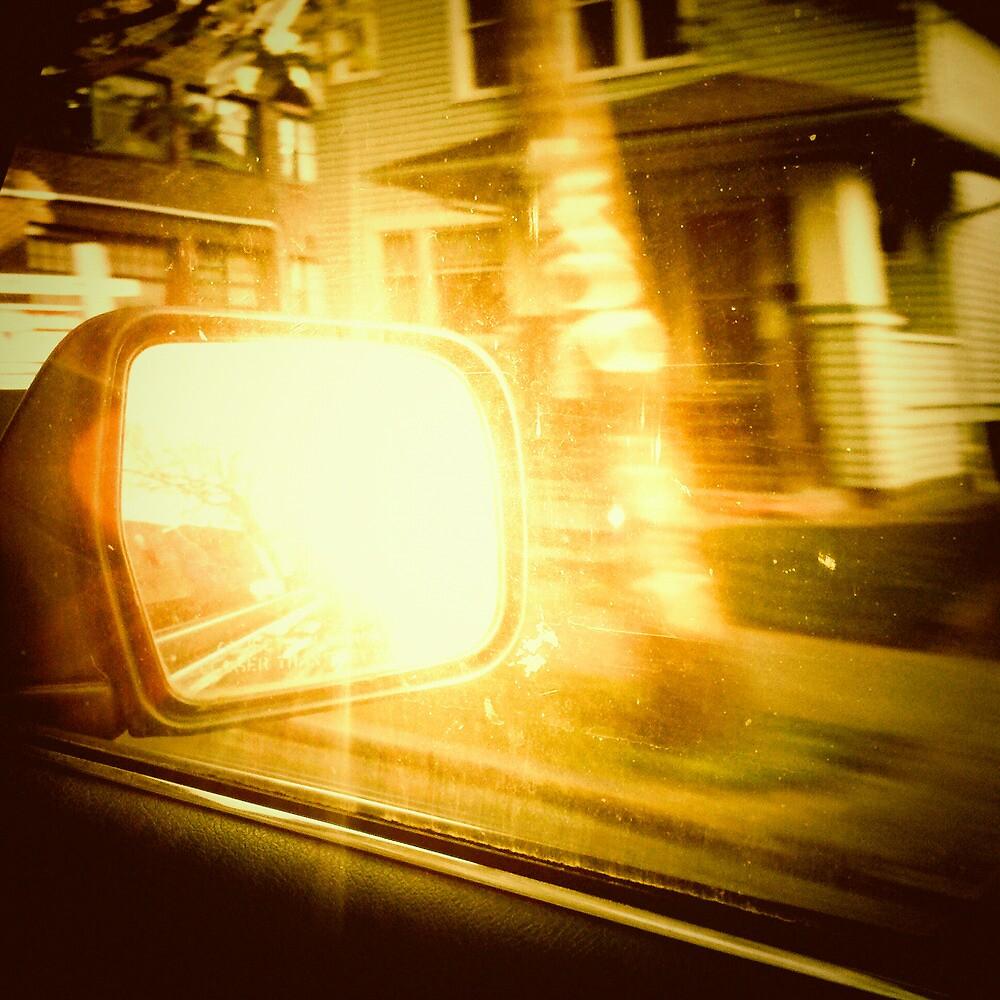 Rear View Mirror - Portland, Oregon by KeriFriedman