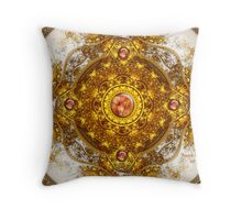 Golden Orchestra: RED Jewel V.3 Throw Pillow