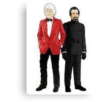 Doctor Who - Third Doctor and The Master Canvas Print