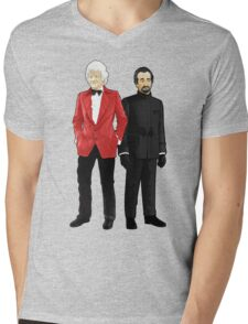 Doctor Who - Third Doctor and The Master Mens V-Neck T-Shirt