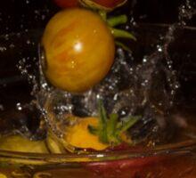Splashing Tomatos Sticker