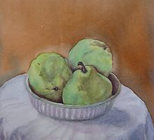 Three Pears by Peter Johnson