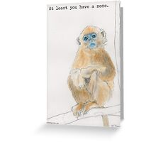 Get well soon from the Golden snub-nosed monkey Greeting Card