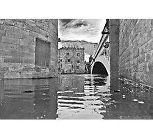 York Lendal Bridge Flood Photographic Print
