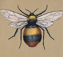 A painting of a bumblebee by Bwiselizzy