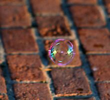 bubble on red brick by DBArt
