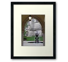Fountain Sculpture Framed Print