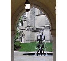 Fountain Sculpture Photographic Print