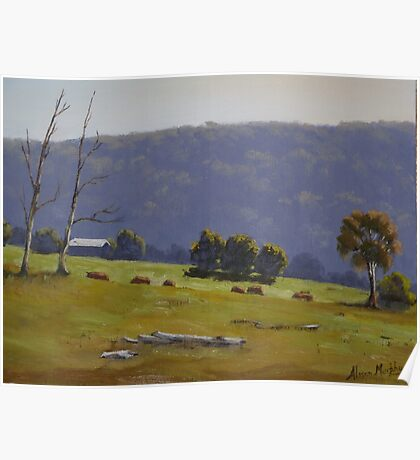 Megalong Morning - Oil Painting Poster