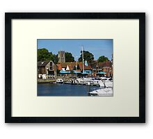 Isaac's, St Clements & boats, Ipswich, Suffolk Framed Print