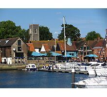 Isaac's, St Clements & boats, Ipswich, Suffolk Photographic Print