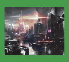 Cyberpunk - Fantasy Setting - Circle One Piece - Short Sleeve