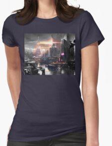 Cyberpunk - Fantasy Setting - Circle Womens Fitted T-Shirt