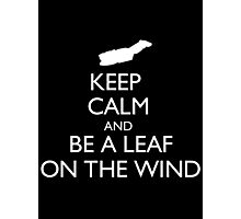 Keep Calm And Be A Leaf On The Wind - Tshirts & Hoodies Photographic Print