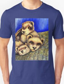 Ferret Layer cake  Unisex T-Shirt